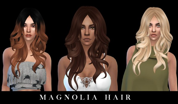 Leo 4 Sims: Magnolia hair recolored for Sims 4