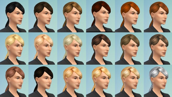 Mod The Sims: Daniela Hair by Monster without name for Sims 4