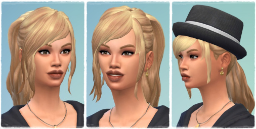 Birksches sims blog: Good Morning Ponytail hair for Sims 4
