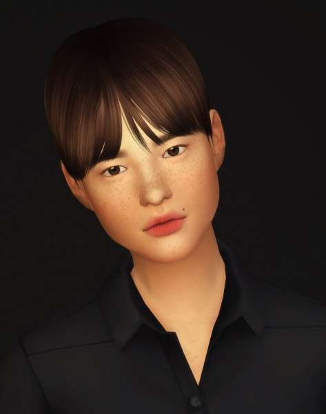 Rusty Nail: Musae hair retextured for Sims 4
