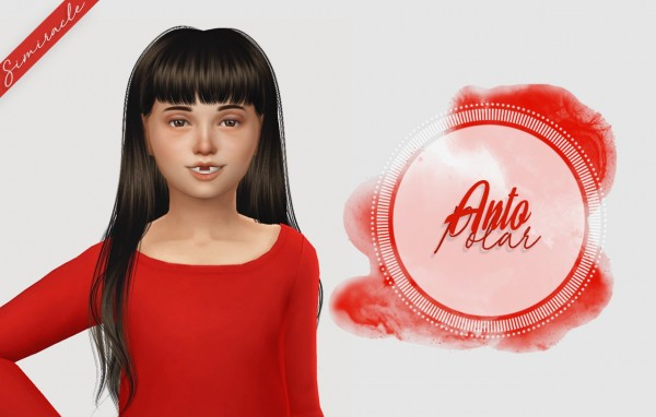 Simiracle: Anto`s Polar hair retextured   Kids Version for Sims 4