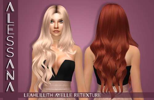 Alessana Sims: Leahlillith`s Ayelle hair retextured for Sims 4
