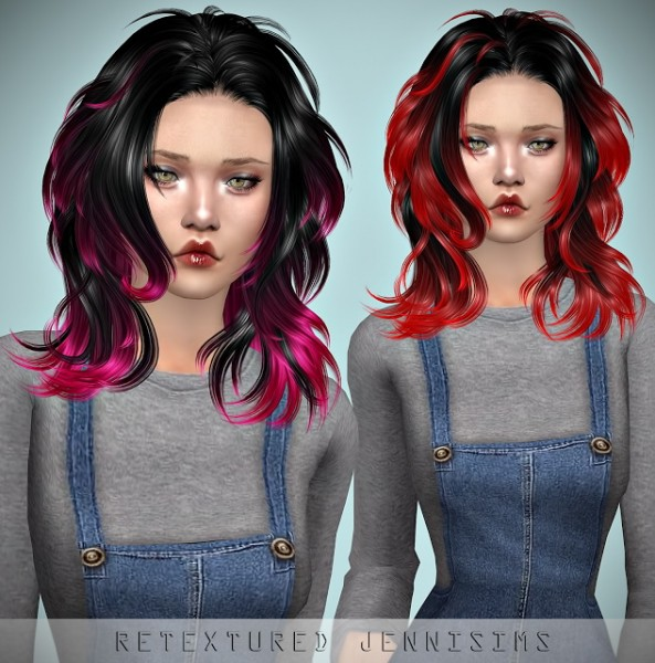 Jenni Sims: Newsea`s Windy City Hair retextured for Sims 4