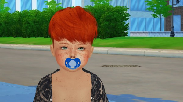 Coupure Electrique: Ela hair 15 retextured for toddlers for Sims 4