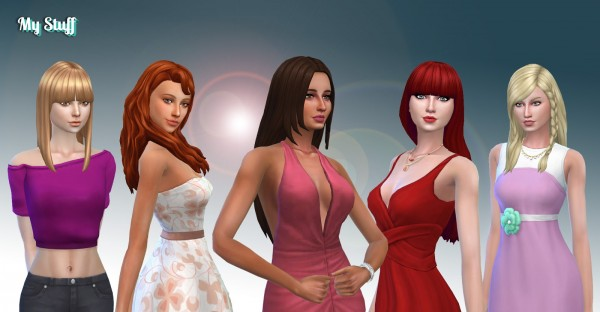 Mystufforigin: Long Hair Pack 15 for Sims 4