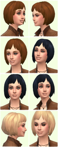 Birksches sims blog: Winona's Bob hair for Sims 4