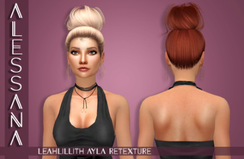 Alessana Sims: LeahLillith Ayla Hair retextured for Sims 4