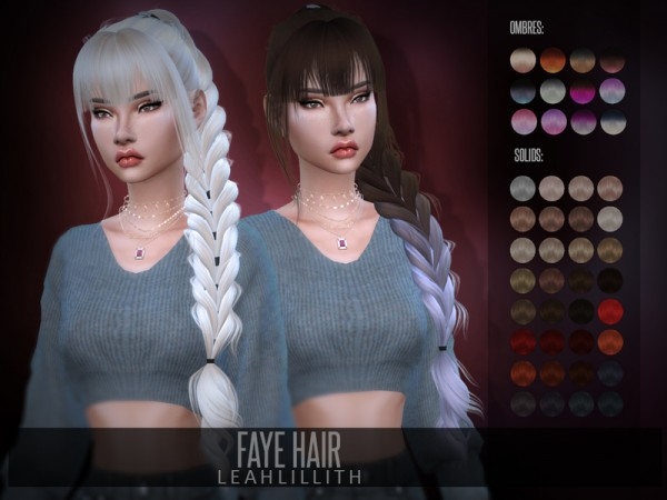 The Sims Resource: Faye Hair by LeahLillith for Sims 4