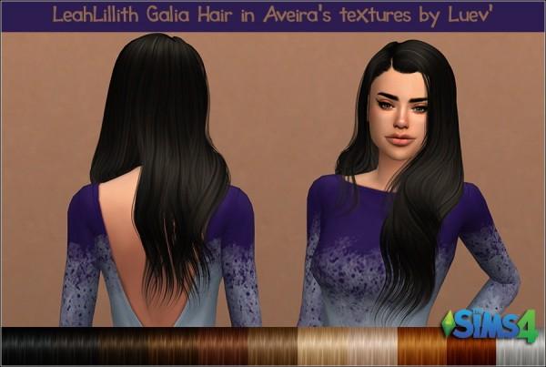 Mertiuza: Leahlillith`s Galia hair retextured for Sims 4