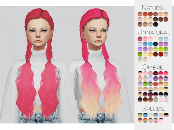The Sims Resource: LeahLilliths Alessia hair retextured by Kalewa for Sims 4