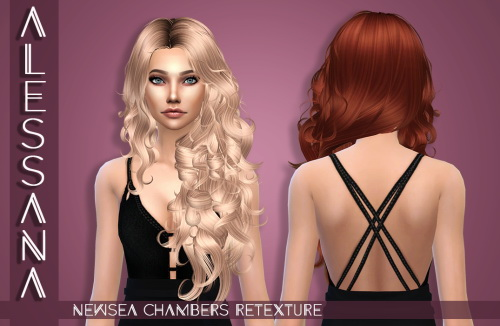 Alessana Sims: Newsea`s Chambers hair retextured for Sims 4