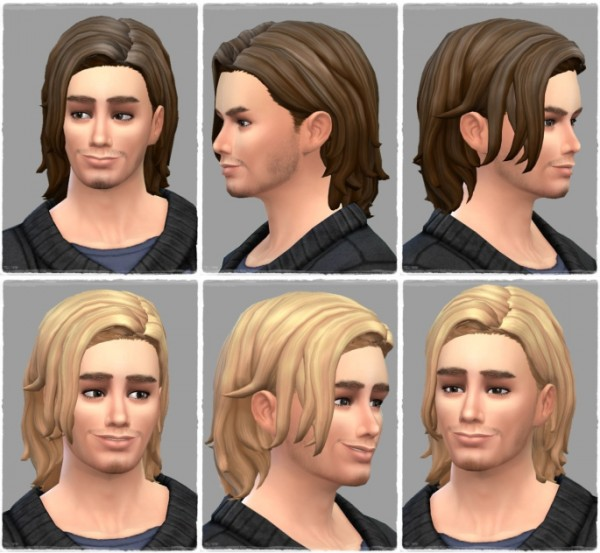 Birksches sims blog: Tyler hair for Sims 4