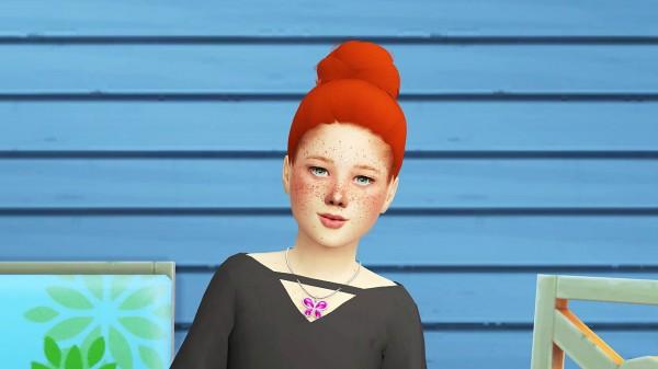 Coupure Electrique: Simpliciaty`s Selice hair retextured for Sims 4
