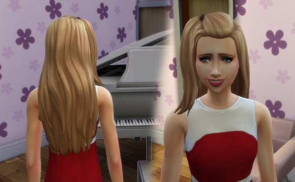 Mystufforigin: Melanie Hair retextured for Sims 4