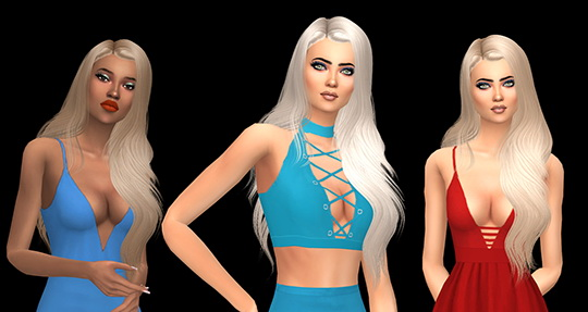 Birksches sims blog: Leah Lillith`s Galia Retextured for Sims 4