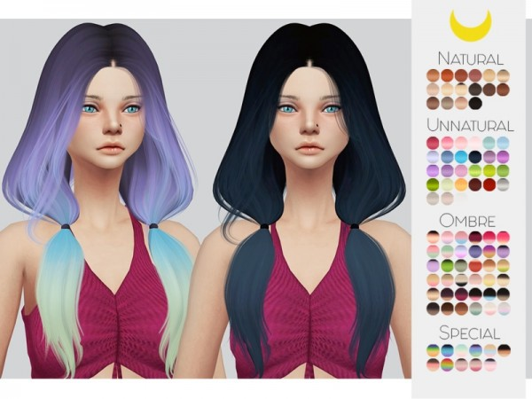 The Sims Resource: LeahLillith`s Ignition hair retextured by Kalewa a for Sims 4