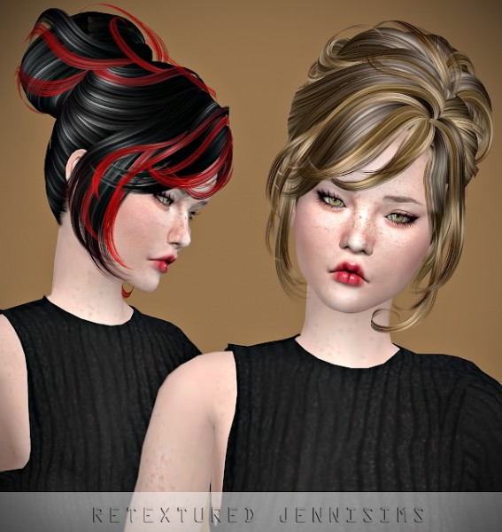 Jenni Sims: Newsea`s Crescent Hair retextured for Sims 4