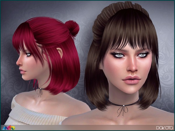 The Sims Resource: Dakota hair by Anto for Sims 4
