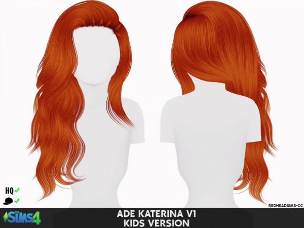 Coupure Electrique: Ade Darma's Katerina V1 hair retextured kids version for Sims 4