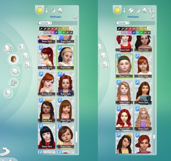 Mystufforigin: Med Wavy Bandana hair retextured for Sims 4