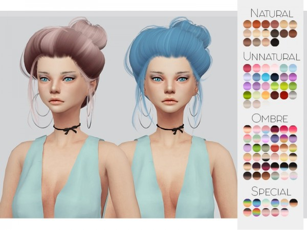 The Sims Resource: LeahLillith`s Dandelion hair retextured by Kalewa a for Sims 4