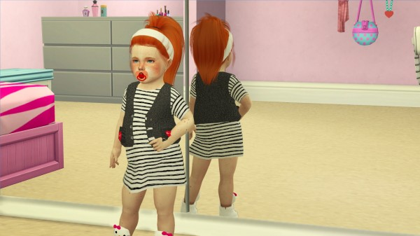 Coupure Electrique: Leahlillith`s Tori hair retextured   Kids and Toddlers version for Sims 4