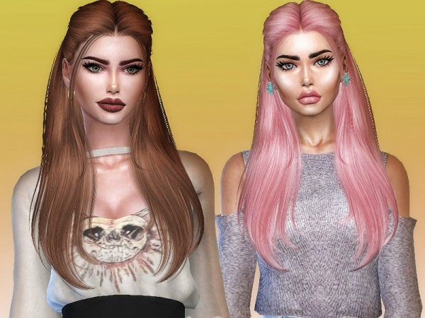 The Sims Resource: Sugar hair retextured by Sharareh for Sims 4