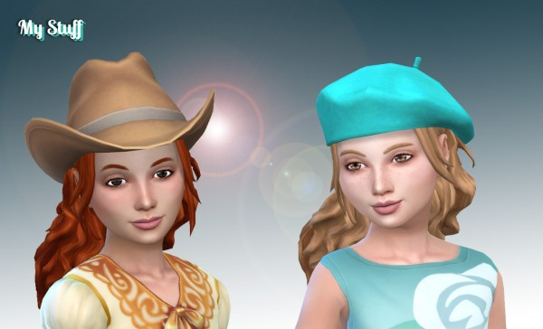 Mystufforigin: Leonaro hair retextured for girls for Sims 4