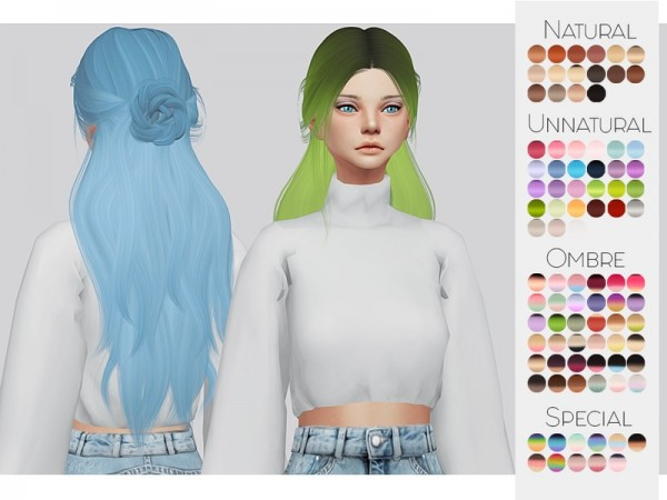 The Sims Resource: LeahLillith`s Renaissance hair retextured by Kalewa a for Sims 4