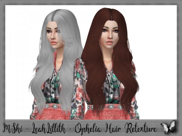 The Sims Resource: Leahlillith`s Ophelia hair retextured by Mikerashi for Sims 4