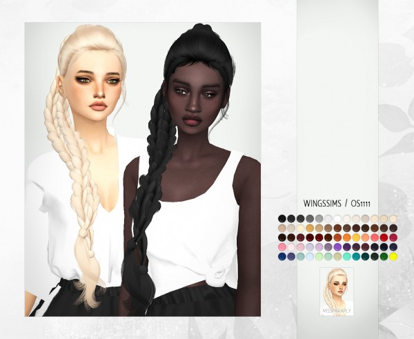 Miss Paraply: WINGS Osm hair retextured for Sims 4