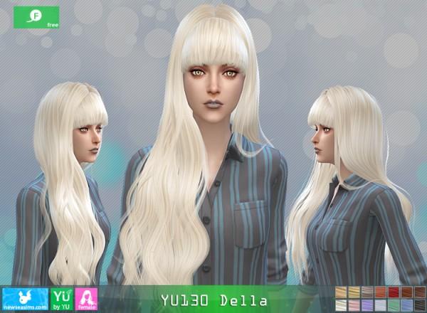 NewSea: YU130 Della hair for Sims 4
