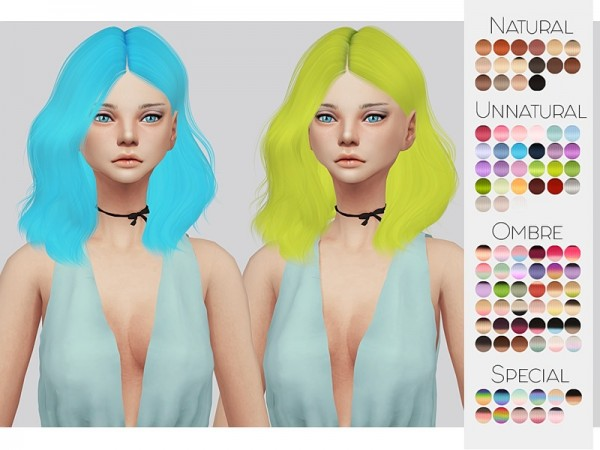 The Sims Resource: Leahlillith`s Naira hair retextured by Kalewa a for Sims 4