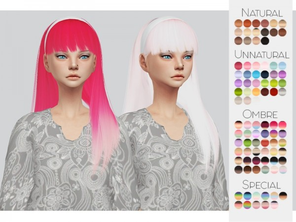 The Sims Resource: LeahLillith`s Taylor hair retextured by Kalewa a for Sims 4