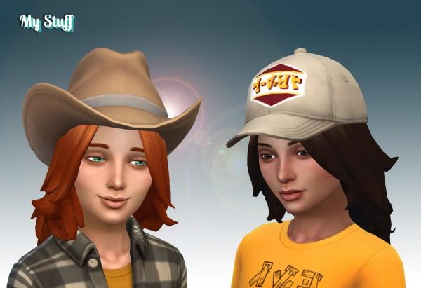 Mystufforigin: John hair retextured for Kids for Sims 4