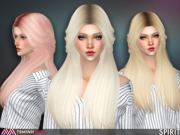 The Sims Resource: Spirit Hair 55 by TsminhSims for Sims 4