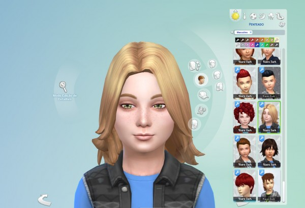 Mystufforigin: John hair retextured for Kids for Sims 4