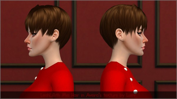 Mertiuza: Leahlillith`s Mia hair retextured for Sims 4