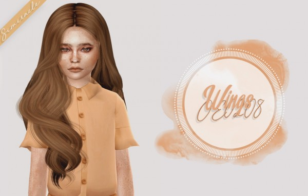 Simiracle: Wings OE0208 hair retextured   Kids Version for Sims 4