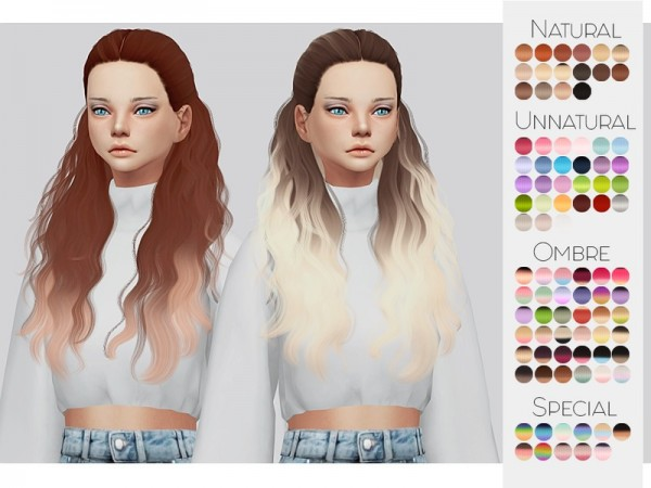 The Sims Resource: Cazy`s Hannah hair retextured by Kalewa a for Sims 4