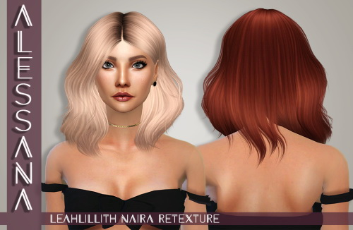 Alessana Sims: Leahlillith`s Naira hair retextured for Sims 4