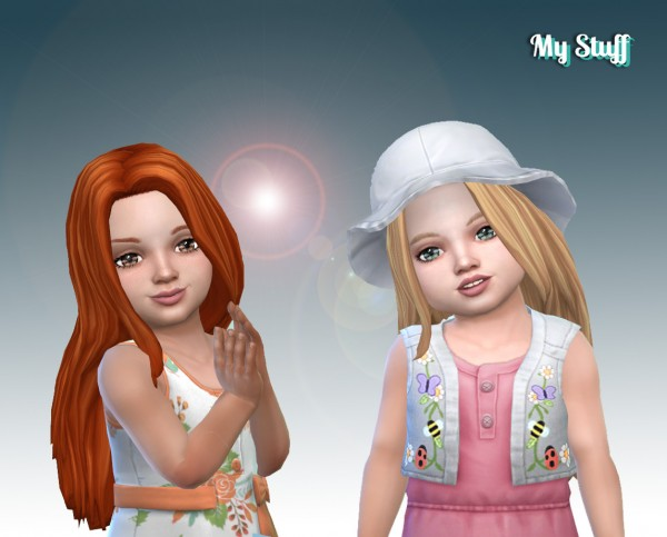 Mystufforigin: Gorgeous Hair for Toddlers for Sims 4