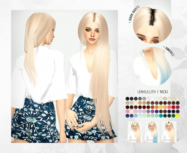 Miss Paraply: Leahlillith`s Nicki hair retextured for Sims 4