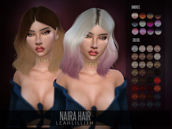 The Sims Resource: Naira Hair by LeahLillith for Sims 4