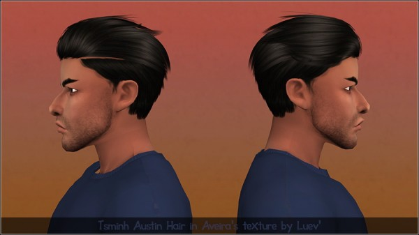 Mertiuza: Tsminh Austin hair retextured for Sims 4