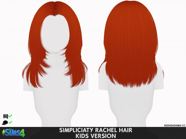 Coupure Electrique: Simpliciaty`s Rachel Hair retextured   toddlers and kids version for Sims 4