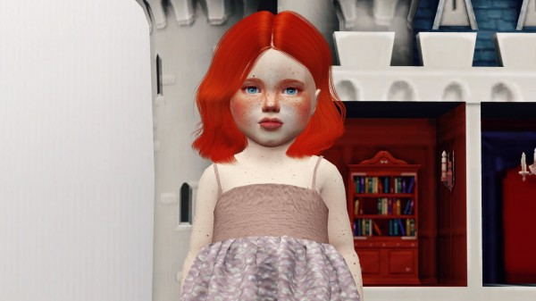 Coupure Electrique: Leahlillith`s Naira hair retextured for Sims 4