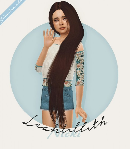 Simiracle: Leahlillith`s Nicki hair retextured   Kids Version for Sims 4