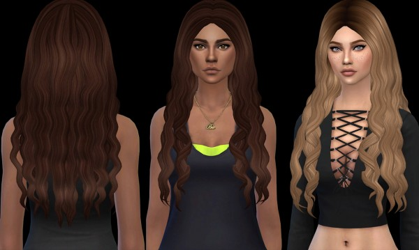 Leo 4 Sims: April hair retextured for Sims 4