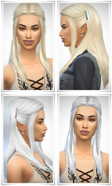 Birksches sims blog: Helene's Slide Hair for Sims 4